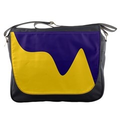 Purple Yellow Wave Messenger Bags by Mariart