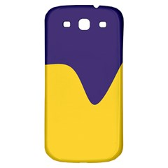Purple Yellow Wave Samsung Galaxy S3 S Iii Classic Hardshell Back Case by Mariart
