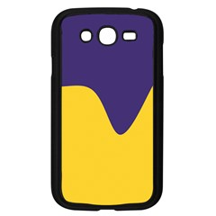 Purple Yellow Wave Samsung Galaxy Grand Duos I9082 Case (black) by Mariart