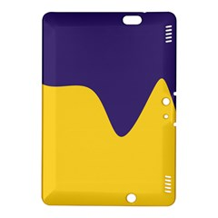 Purple Yellow Wave Kindle Fire Hdx 8 9  Hardshell Case by Mariart