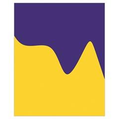 Purple Yellow Wave Drawstring Bag (small) by Mariart