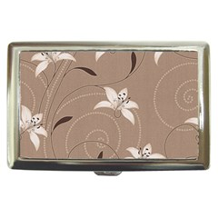 Star Flower Floral Grey Leaf Cigarette Money Cases by Mariart
