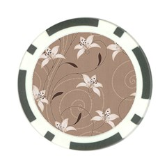Star Flower Floral Grey Leaf Poker Chip Card Guard by Mariart