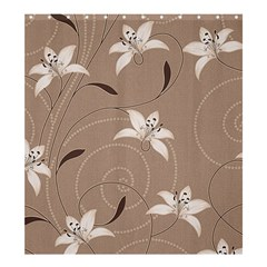 Star Flower Floral Grey Leaf Shower Curtain 66  X 72  (large)  by Mariart