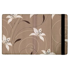 Star Flower Floral Grey Leaf Apple iPad 2 Flip Case