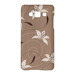 Star Flower Floral Grey Leaf Samsung Galaxy A5 Hardshell Case