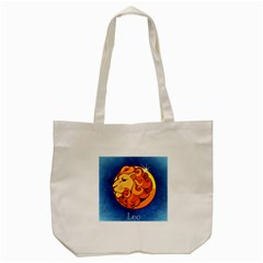 Zodiac Leo Tote Bag (cream) by Mariart