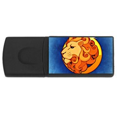 Zodiac Leo Usb Flash Drive Rectangular (4 Gb) by Mariart