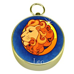 Zodiac Leo Gold Compasses by Mariart