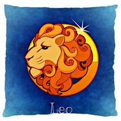 Zodiac Leo Standard Flano Cushion Case (one Side) by Mariart
