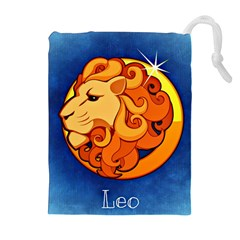 Zodiac Leo Drawstring Pouches (extra Large) by Mariart