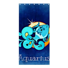 Zodiac Aquarius Shower Curtain 36  X 72  (stall)  by Mariart