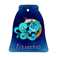 Zodiac Aquarius Bell Ornament (two Sides) by Mariart