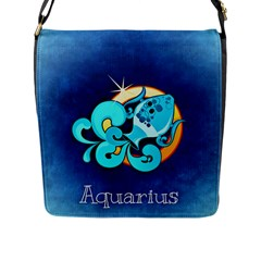 Zodiac Aquarius Flap Messenger Bag (l)  by Mariart