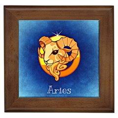 Zodiac Aries Framed Tiles by Mariart