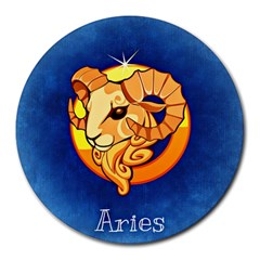 Zodiac Aries Round Mousepads by Mariart