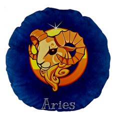 Zodiac Aries Large 18  Premium Round Cushions by Mariart