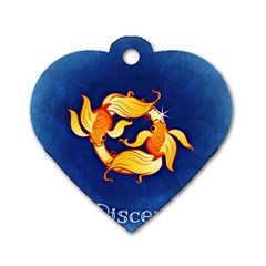 Zodiac Pisces Dog Tag Heart (one Side) by Mariart