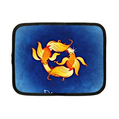 Zodiac Pisces Netbook Case (small)  by Mariart