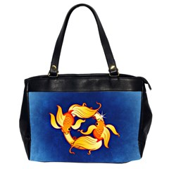 Zodiac Pisces Office Handbags (2 Sides)  by Mariart
