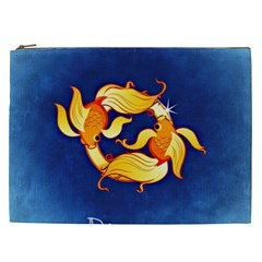 Zodiac Pisces Cosmetic Bag (xxl)  by Mariart