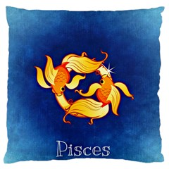 Zodiac Pisces Large Flano Cushion Case (one Side) by Mariart
