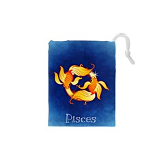 Zodiac Pisces Drawstring Pouches (xs)  by Mariart