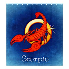 Zodiac Scorpio Shower Curtain 66  X 72  (large)  by Mariart