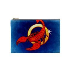 Zodiac Scorpio Cosmetic Bag (medium)  by Mariart
