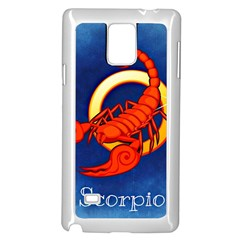 Zodiac Scorpio Samsung Galaxy Note 4 Case (white) by Mariart