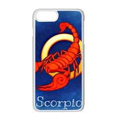 Zodiac Scorpio Apple iPhone 7 Plus White Seamless Case by Mariart