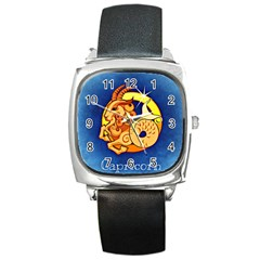 Zodiac Capricorn Square Metal Watch by Mariart