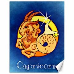 Zodiac Capricorn Canvas 12  X 16   by Mariart
