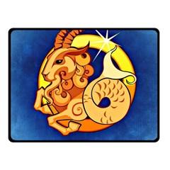 Zodiac Capricorn Fleece Blanket (small) by Mariart