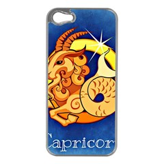 Zodiac Capricorn Apple Iphone 5 Case (silver) by Mariart