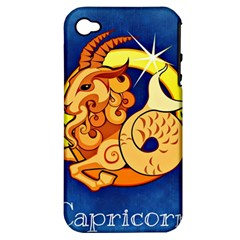 Zodiac Capricorn Apple Iphone 4/4s Hardshell Case (pc+silicone) by Mariart