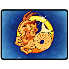 Zodiac Capricorn Double Sided Fleece Blanket (large)  by Mariart