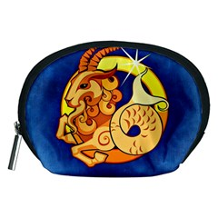 Zodiac Capricorn Accessory Pouches (medium)  by Mariart
