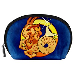 Zodiac Capricorn Accessory Pouches (large)  by Mariart