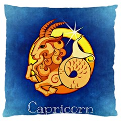 Zodiac Capricorn Large Flano Cushion Case (one Side) by Mariart