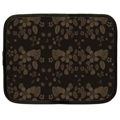 Floral Pattern Netbook Case (xxl)  by Valentinaart