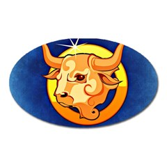 Zodiac Taurus Oval Magnet by Mariart