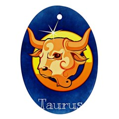 Zodiac Taurus Oval Ornament (two Sides) by Mariart