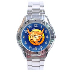 Zodiac Taurus Stainless Steel Analogue Watch by Mariart