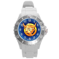Zodiac Taurus Round Plastic Sport Watch (l) by Mariart