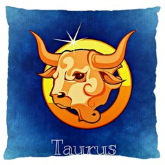 Zodiac Taurus Large Cushion Case (two Sides) by Mariart