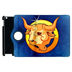 Zodiac Taurus Apple Ipad 3/4 Flip 360 Case by Mariart