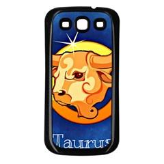 Zodiac Taurus Samsung Galaxy S3 Back Case (black) by Mariart
