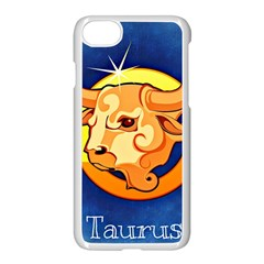 Zodiac Taurus Apple Iphone 7 Seamless Case (white) by Mariart
