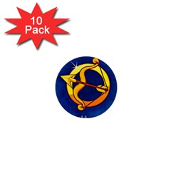 Zodiac Sagittarius 1  Mini Buttons (10 Pack)  by Mariart